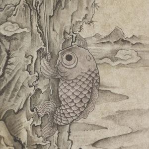 """鈴木 博雄 """"鯉の崖登り"""" 2016"""