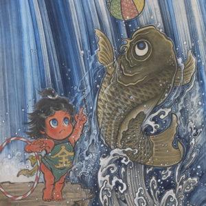 """鈴木 博雄 """"坂田怪童丸 鯉使い乃図"""" 2016"""