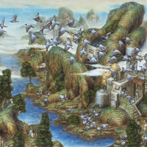 "Kakinuma Hiroki ""Landscape of flock of pigeons"" 2016"