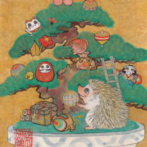 "Suzuki Hiroo ""Hedgehog with Christmas tree"" 2014"