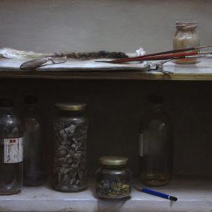 "Hara Takahiro ""bodegon con paleta"" 2011"