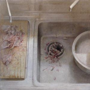 "原 崇浩 ""cocina con pescados"" 2009"