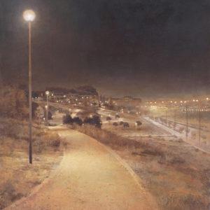 "原 崇浩 ""Parque,junto a Pitis-noche"" 2010"