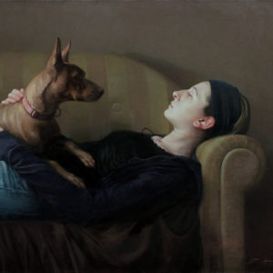 "Hara Takahiro ""Woman with dog"" 2013"