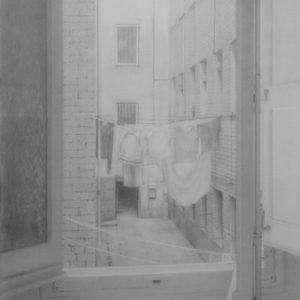"""原 崇浩 """" ventana con ropas"""" 2000"""