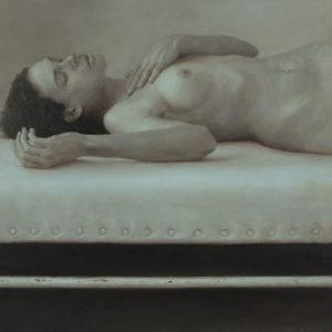 """原 崇浩 """"横たわる裸婦 グレー"""" 2010"""