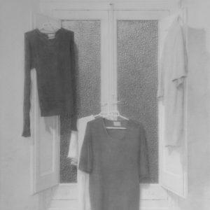 """原 崇浩 """"ventana con ropas"""" 2000"""