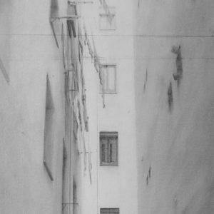 """原 崇浩 """"ロドリゲス・サン・ペドロ通りの裏庭"""" 2001"""