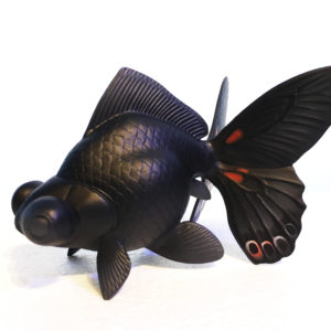 "小松 孝英 ""Butterfly-gold fish"""
