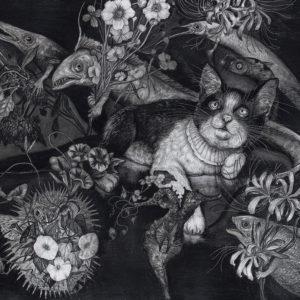"北川 麻衣子 ""The cat dreams …"" 2019"