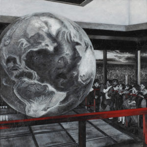 "Takagi Yo ""Large terrestrial globe among red fences"" 2015"