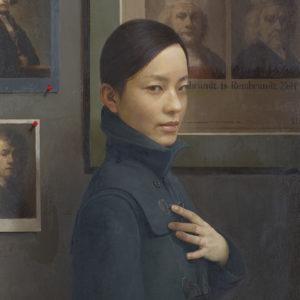 """Hara Takahiro """"Retraro de una joven y Rembrandts"""" 2015"""