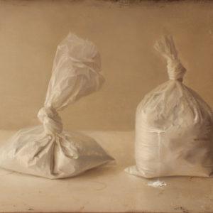 "Hara Takahiro ""Dos bolsas con polvo blanco"" 2011"