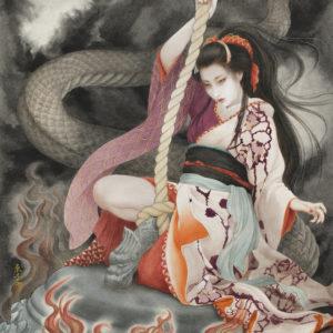 "Okamoto Toko ""Blazing -Tribute artwork to Kiyohime-"" 2021"